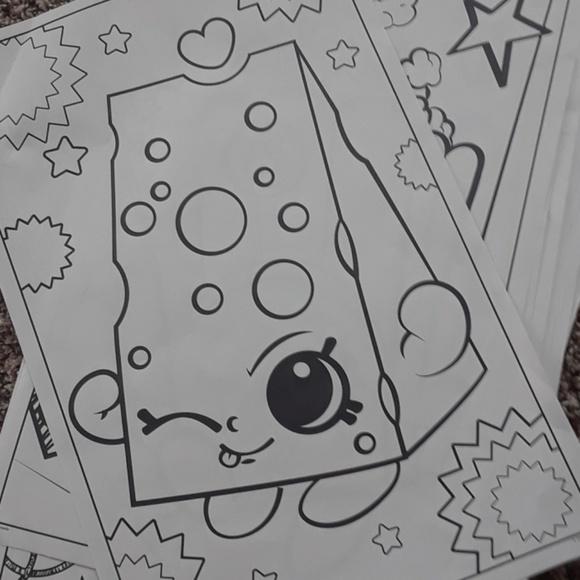 Moosejaw Other - 15 shoppkins coloring jumbo sheets